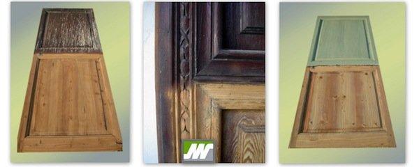 Chorreo de puerta de madera interior
