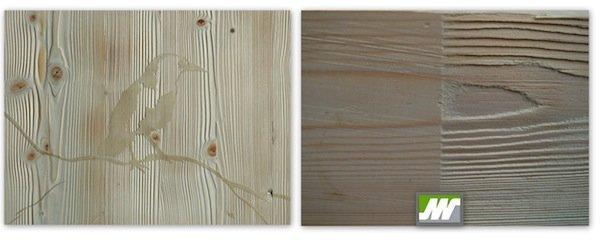 Chorreo de madera con relieve